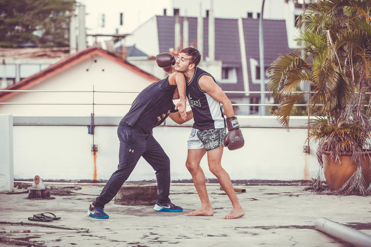Boxing Building Exterior Fighting Krav Maga Martial Arts Muay Thai Self Defense Sports Sports Photography Two People