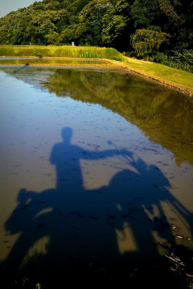 Reflection Rurallandscape Motorcycle Shadow Nature Japan バイク Mountain Reflections In The Water Taking Photos