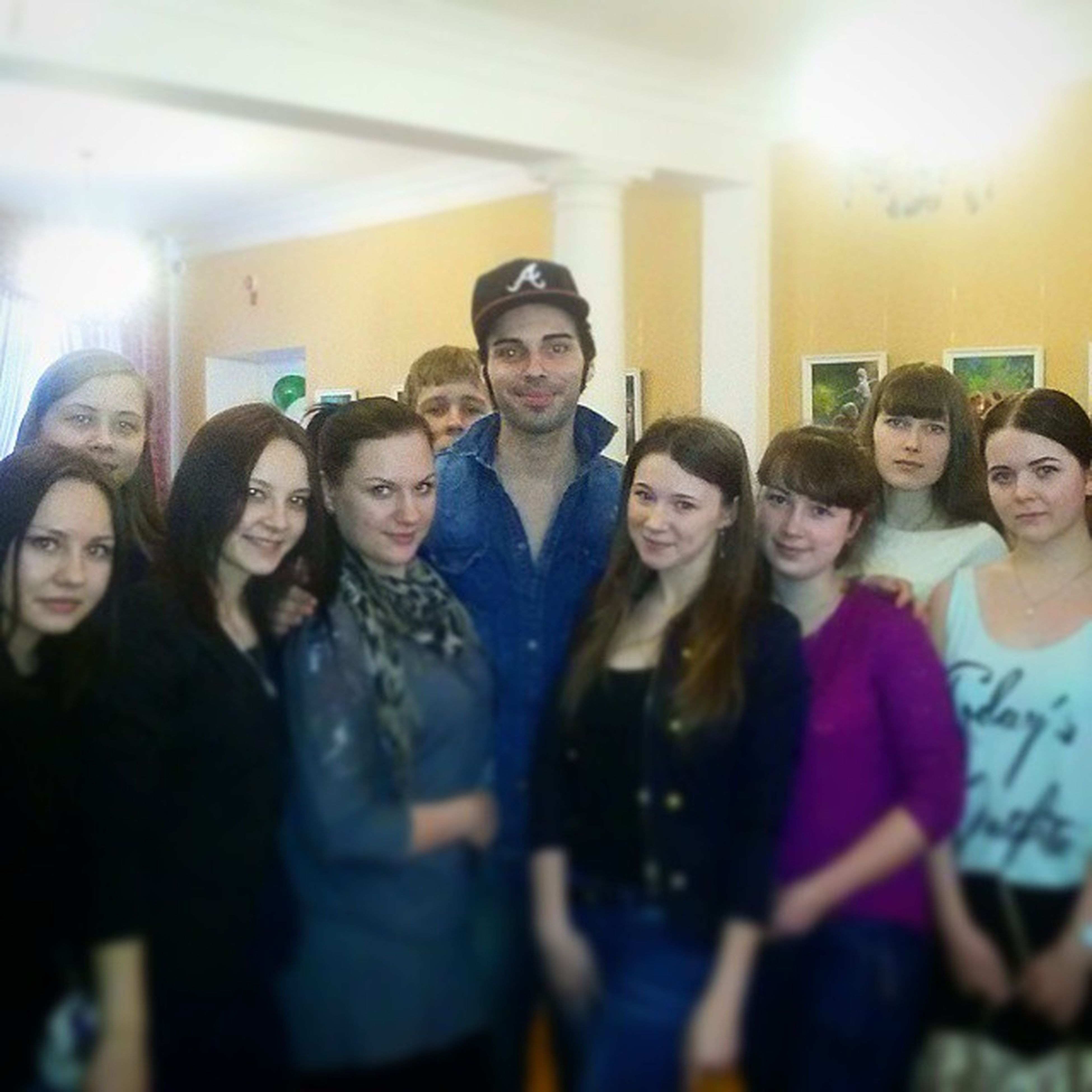 Italian Teacher👨🎓 with very good Russian Students 👑 ItalianDayOfCulture March ⛅🌇