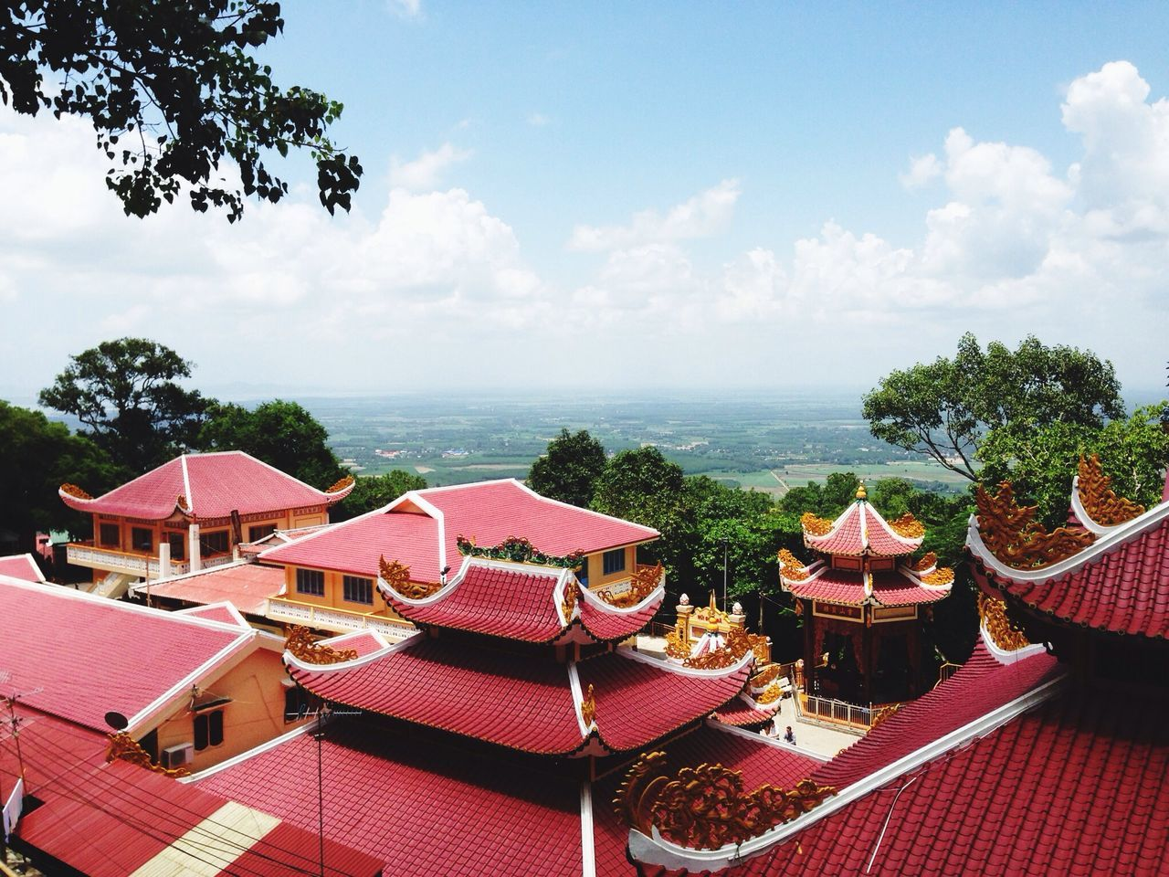 Exterior Of Pink Color Temple Against Sky