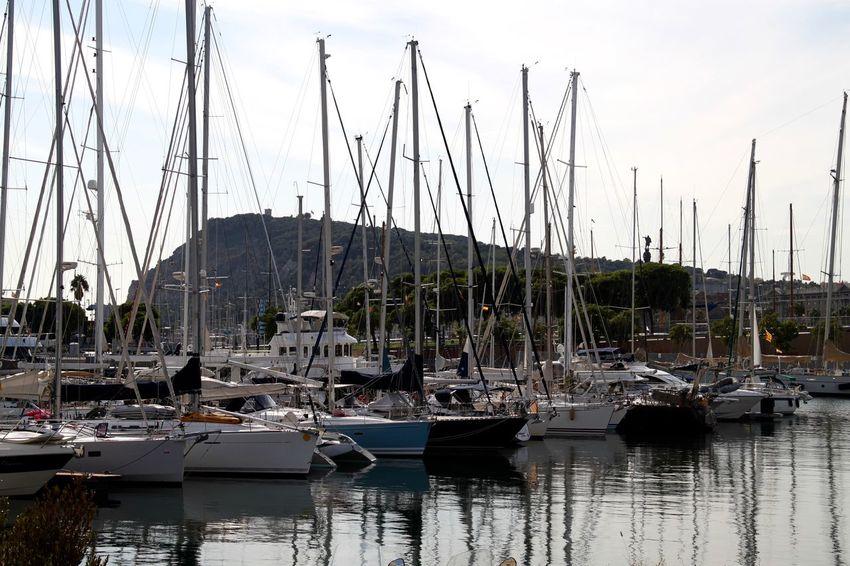 Barcelona Port De Barcelona  Boat Harbor Mast Mode Of Transport Moored Nautical Vessel No People Reflection Sailboat Sailing Ship Sea Tall Ship Transportation Water Yacht
