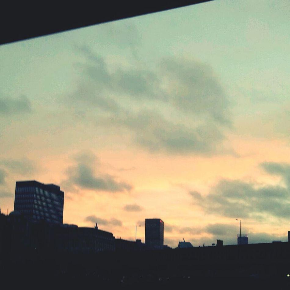 Pretty sky over Manchester from my window Enjoying Life First Eyeem Photo