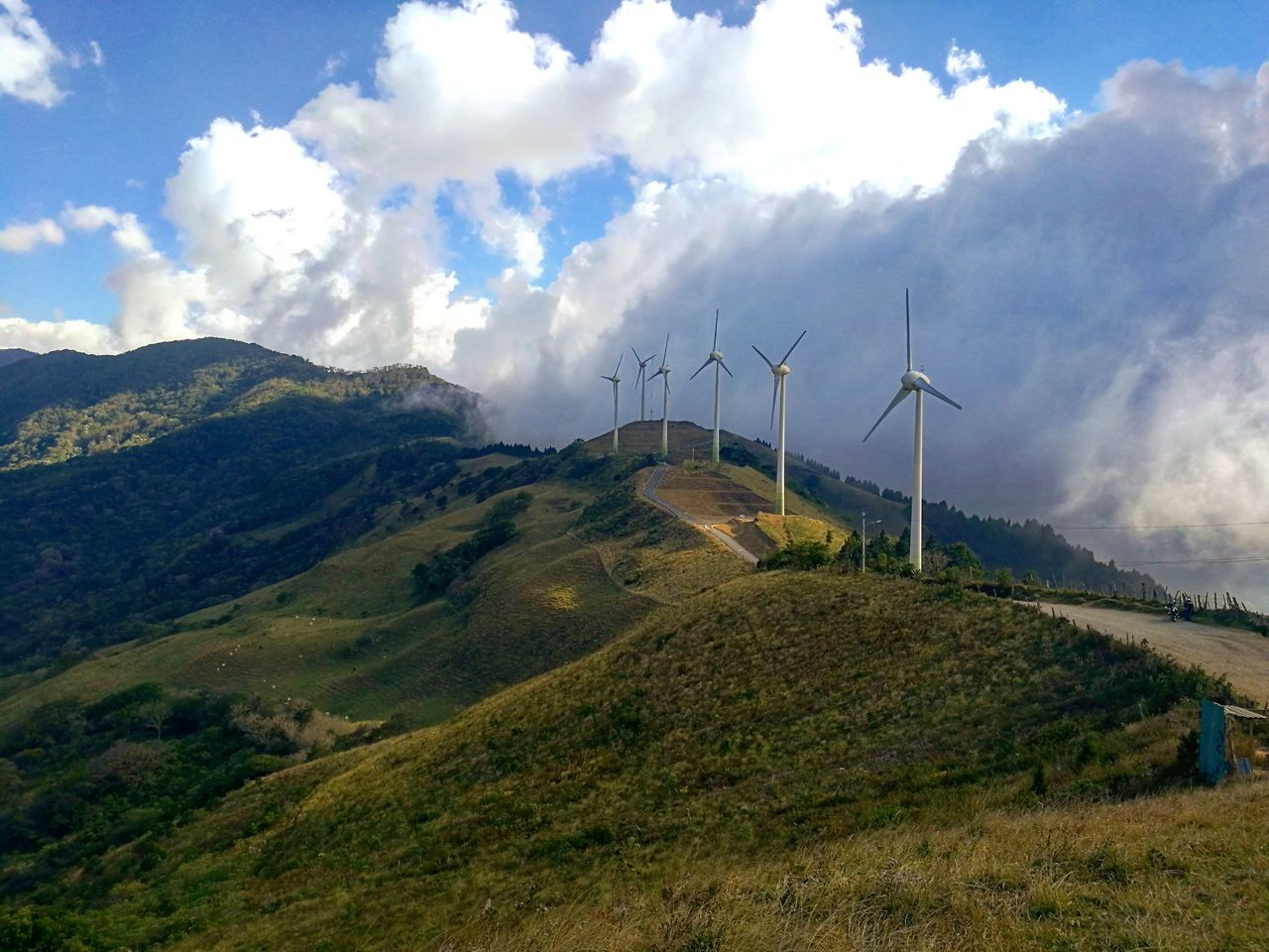 Wind Turbine Renewable Energy Alternative Energy Landscape Beauty In Nature Mountain Outdoors Landscape_Collection