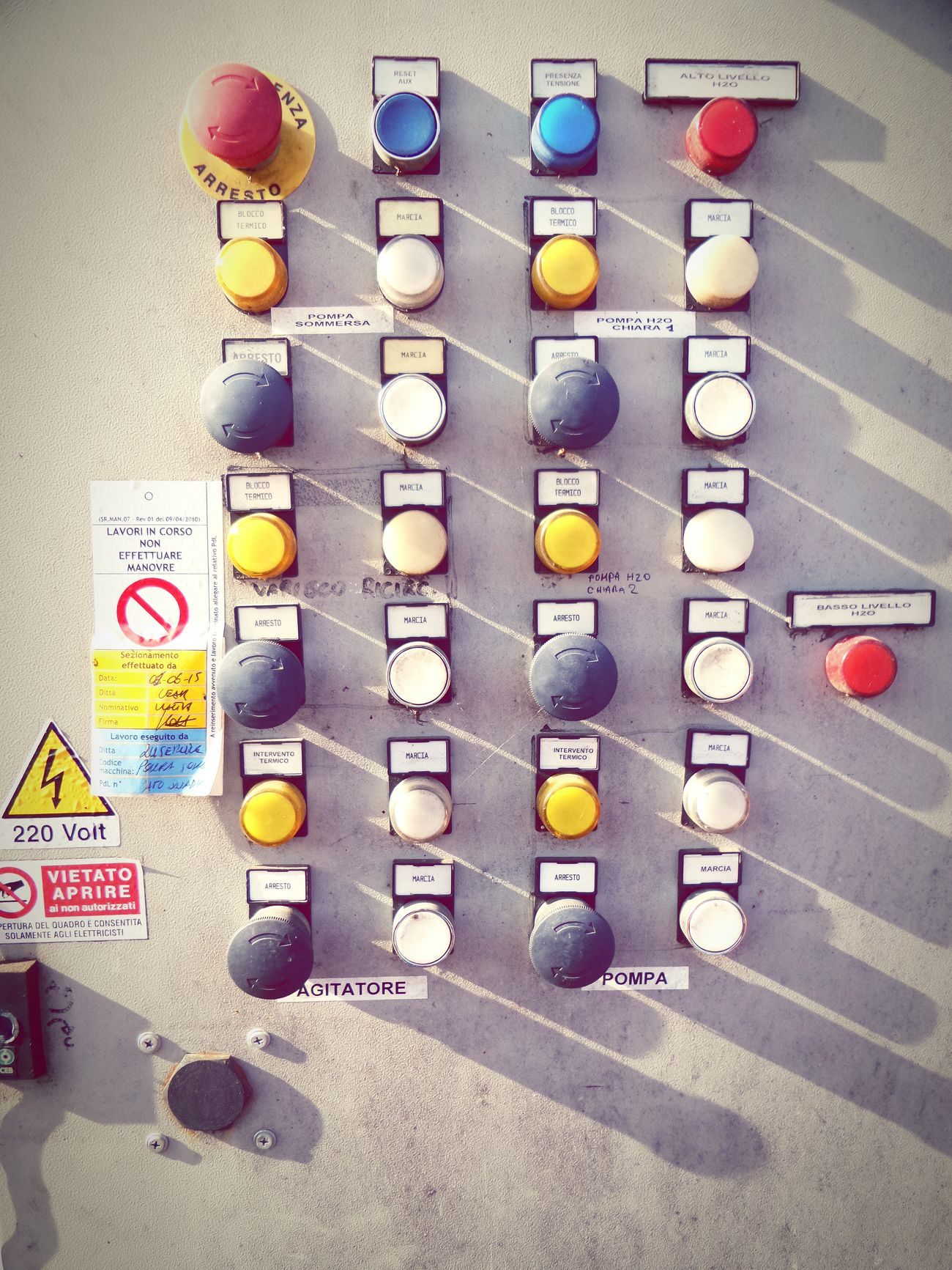 Pulsanti Industry Bottons On Off