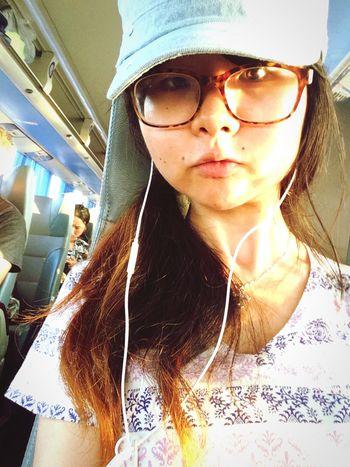 Returning Home Dusk Faces Of Summer Trip long- Distance Bus Orange