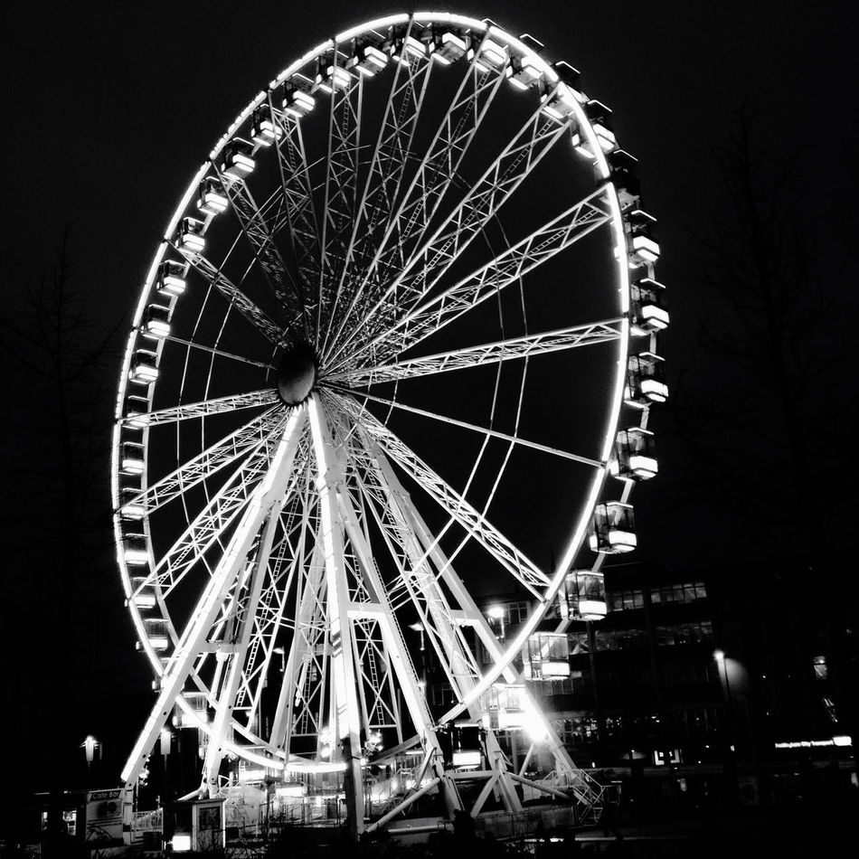 Romantic Moment Black And White Elopement Escape Evening Ferris Wheel Hidden By Darkness Illuminated Just Us Kiss Love Low Angle View Making Plans Momentary Mystery Night Outdoors Retro Romance Secret Secret Shared Shared Moment Shortlived Togetherness Warm Night We Are One❤