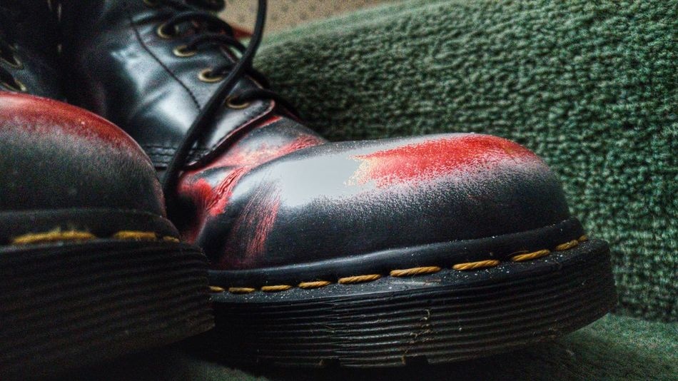 Dr martens Docs Docsmartens Docsmartens Boots Dm Close-up Red Day Depth Of Field One Person Real People Human Leg Low Section Outdoors People
