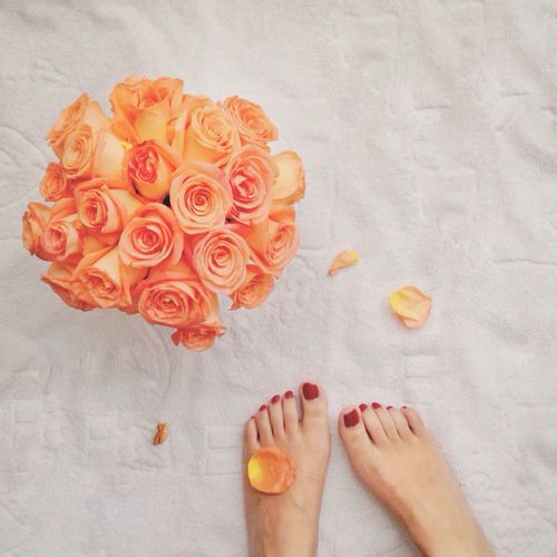 Morning Feet On The Ground Feetlovers Feetselfie Flower Collection