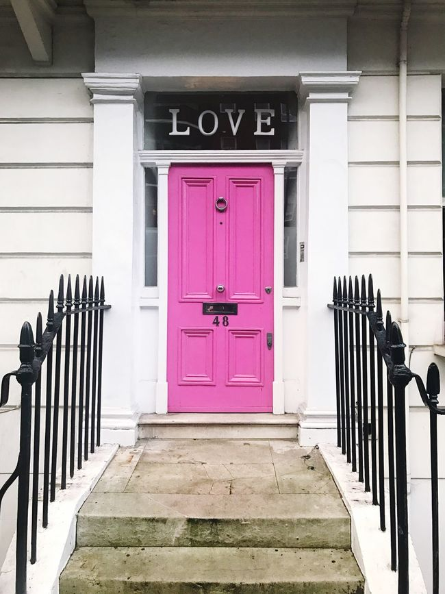 Closed Door Steps Architecture No People Built Structure Day Outdoors Building Exterior Pink Color Entry Love London Pink Door Interior Design Interior Architecture City
