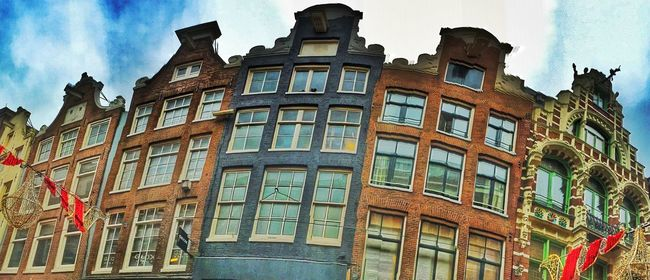 Amsterdam Amsterdamcity Architecture Beautiful Building Building Exterior Built Structure City City Citylife Façade Holland Iamamsterdam Low Angle View Multi Colored Netherlands Niederlande No People Residential Building Residential Structure Sky Window
