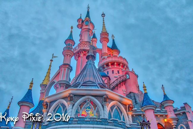 Disneyland Disneyland Paris HDR Travel Destinations Famous Place Disneylandparis Hdrphotography Photography Disneyland Resort Paris Low Angle View Architecture