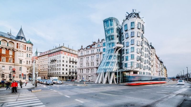 Dancing House Prague Czech Republic Praha Architecture Architecturelovers City Cityscapes Capturing Movement Streetphotography Enjoying The View