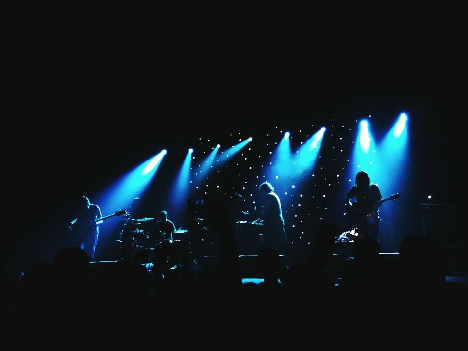 Music Nightlife Popular Music Concert Stage Light Illuminated Night Musician Silhouette Fun Enjoyment People Electric Guitar Adult Lighting Equipment Spacerock Modern Rock Rock Music God Is An Astronaut Aurora Concert Hall GIAA Saint Petersburg