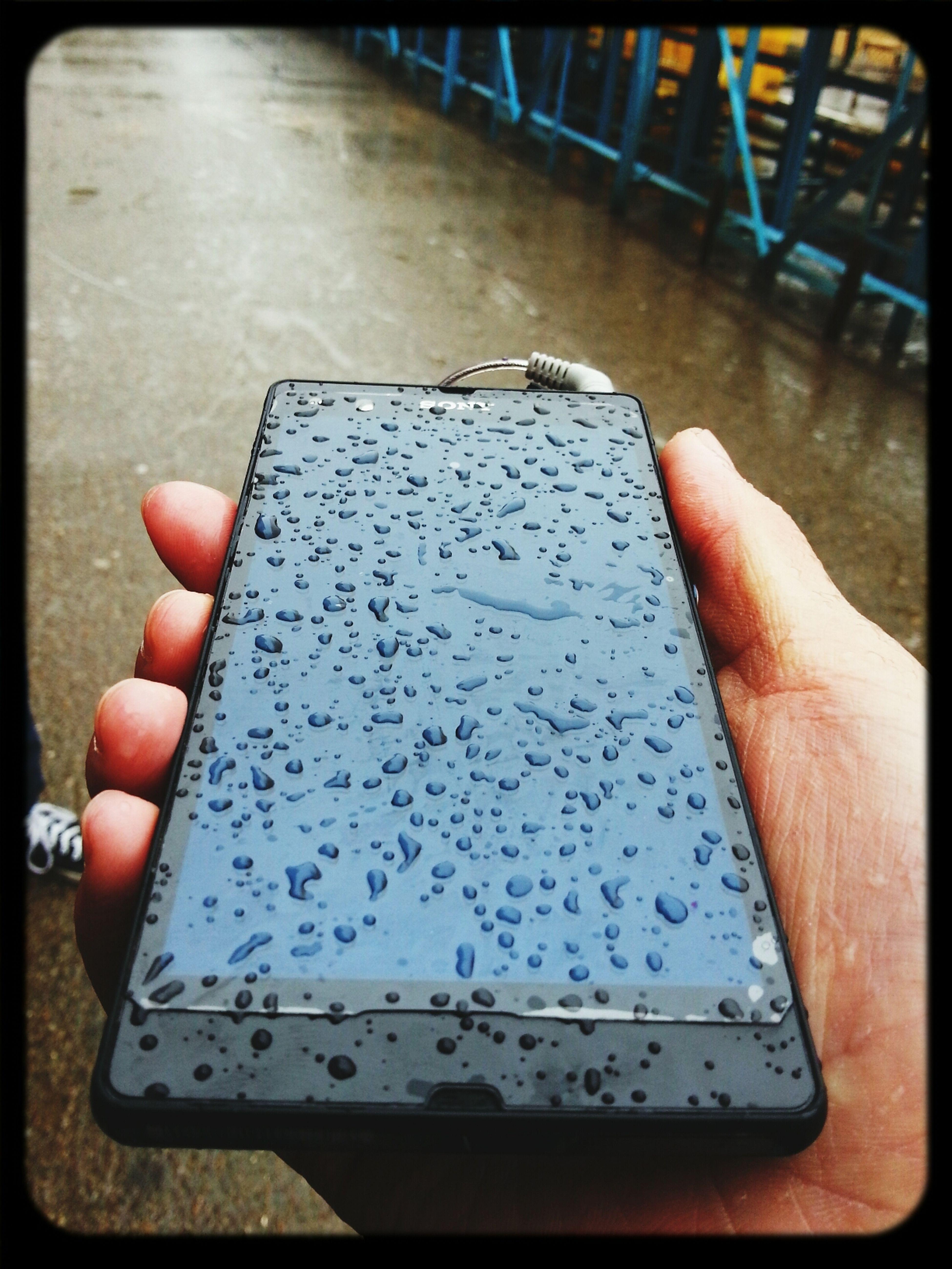 """Taking Photos Sony Xperia Bahhdad Under Rain today at techno ..under rain ^_^"""""""""""""""