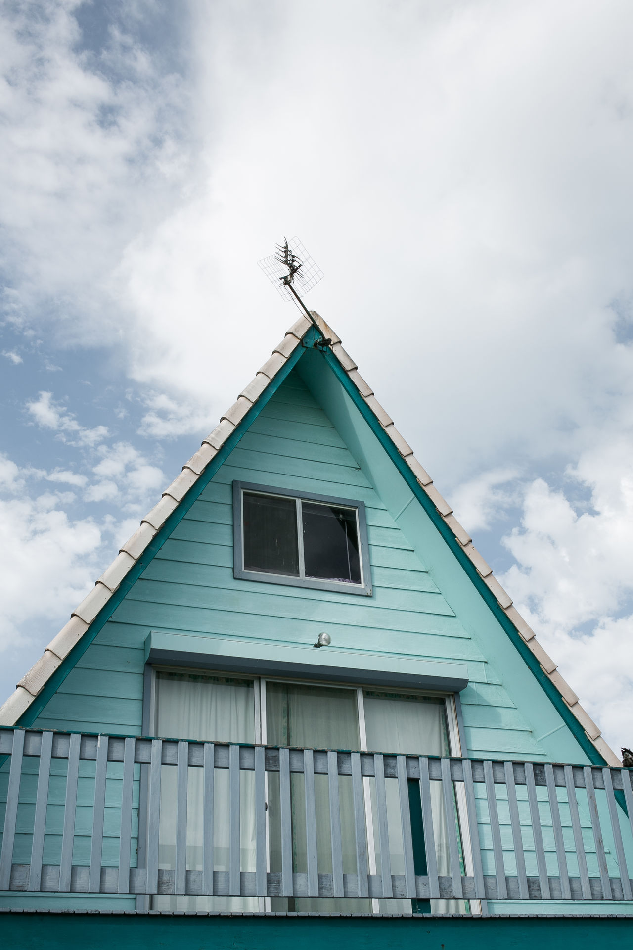Where I stay at Goolwa, SA Architecture Blue Building Exterior Construction Exterior Goolwa Holiday Holiday House House Low Angle View Perspective Triangle