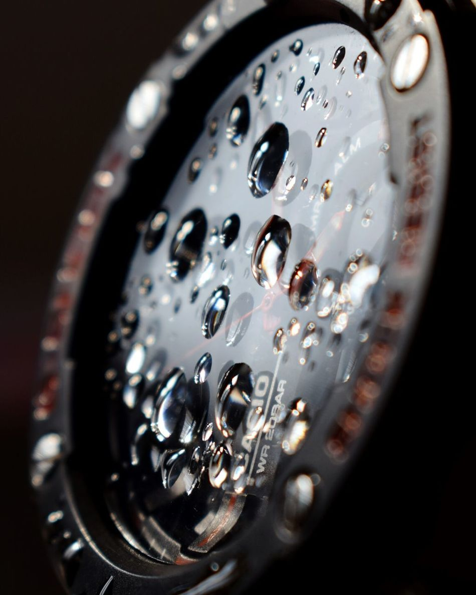 Clock Time Close-up Indoors  No People Clock Face Minute Hand Day Watch Watches Watching The Sunset WetLook Drops On The Glass Drops_perfection Drops Of Water Selective Focus Macro Photography Macrophotography Macro Beauty Macro_captures Macro_collection