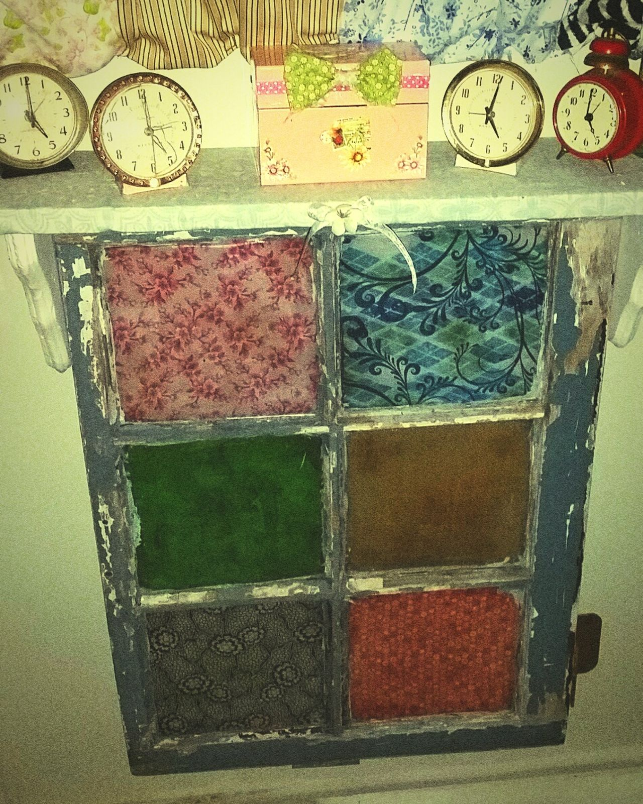 Vintage Window Vintagestyles Vintage Clocks Repurposed Windows My Quirky Style