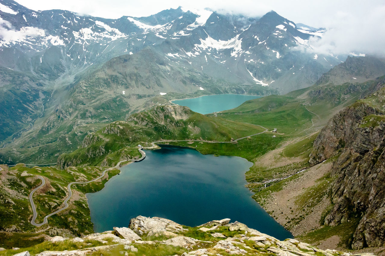 Alpine lakes Alpine Alps Basin Gran Paradiso National Park Green High View Hiking Lake Lakes And Mountains Lakescape Landscape_Collection Mountain Peak Mountain View Mountains National Park Nature Panoramic View Pathway Road Snowcapped Mountain Trail Trekking Water
