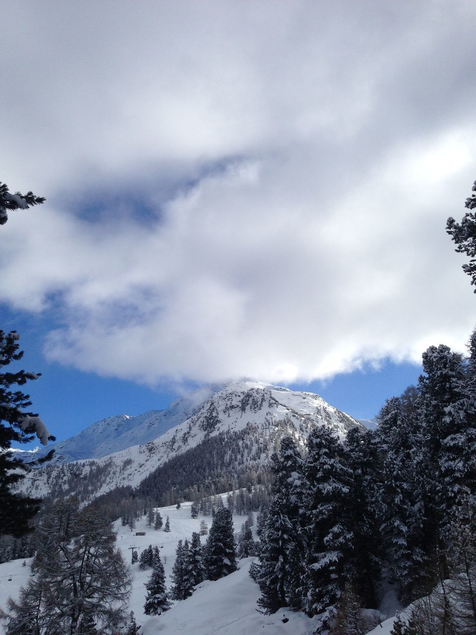 snow, mountain, sky, nature, winter, range, landscape, cold temperature, beauty in nature, outdoors, peak, no people, scenery, high, day