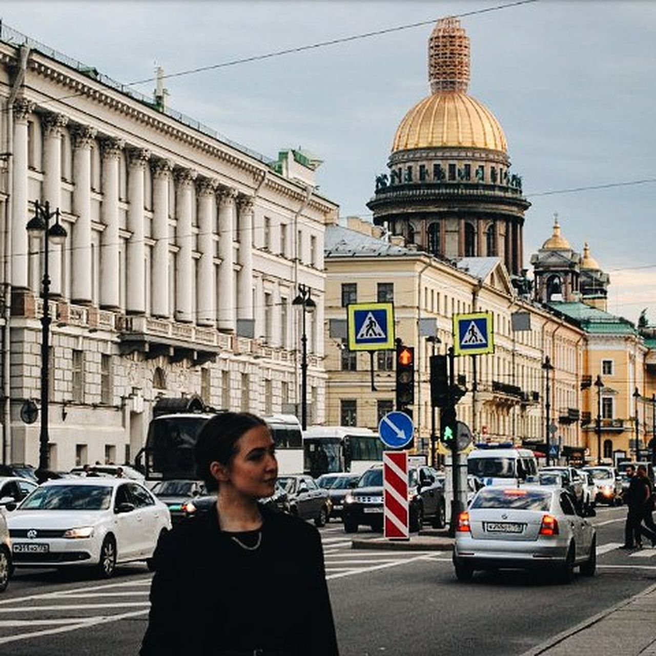 Architecture Built Structure City City Life City Street Followme Girls Lifestyles Road Saint Isaac's Cathedral Saint Petersburg Saint-Petersburg Walking Around