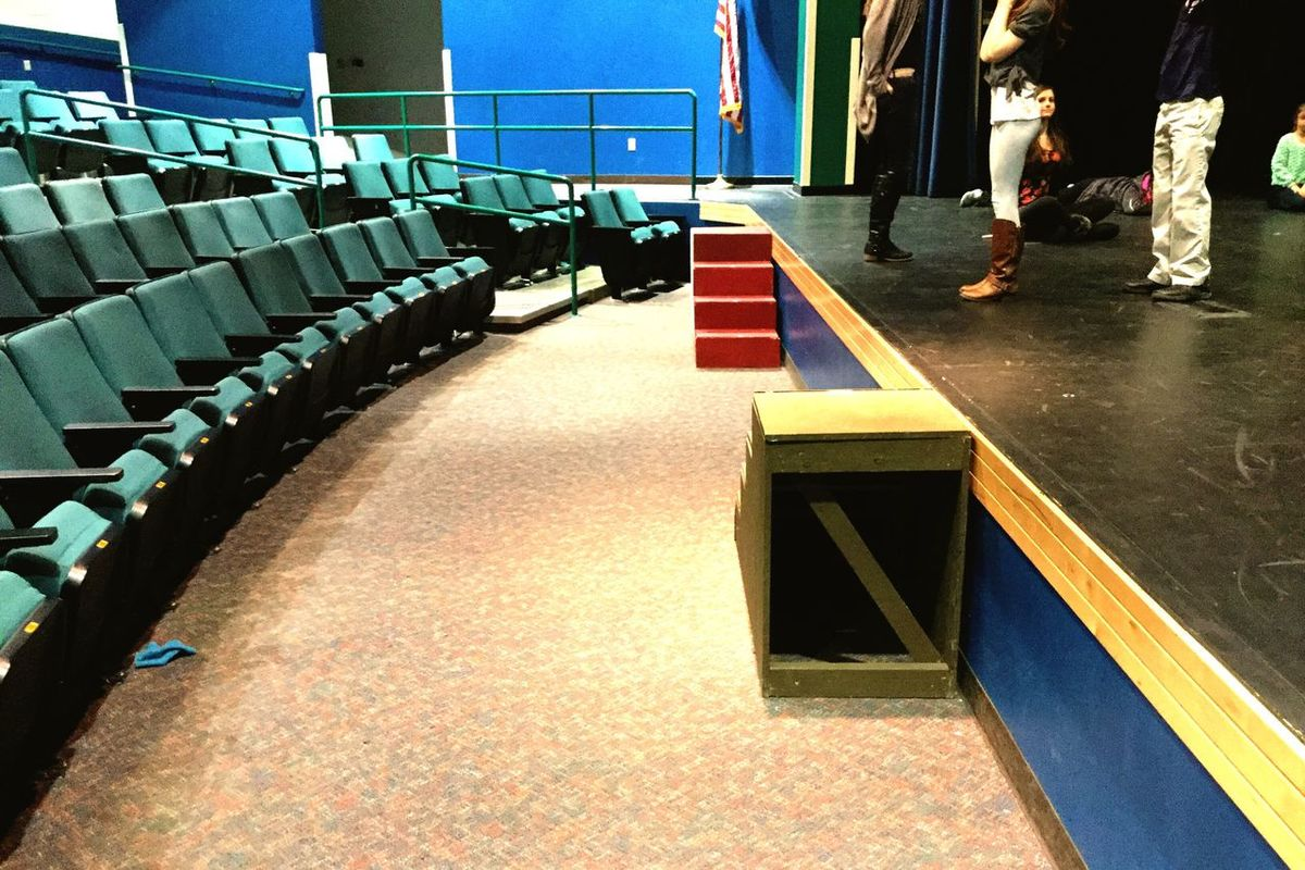 High School Drama students Drama On Stage Eagerness