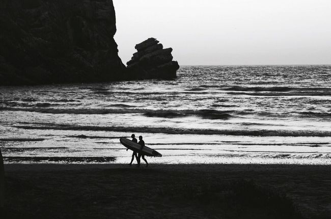 Syncing Cali Style... Monochrome Photography Scenics Black & White California Travel Destinations EyeEm Best Shots EyeEm Gallery Blackandwhite EyeEm Water Sea Eye4photography  Remote Outdoors Surfer Rock - Object Wave Check This Out Idyllic Nature Nature On Your Doorstep Protecting Where We Play Travel Beach Non-urban Scene
