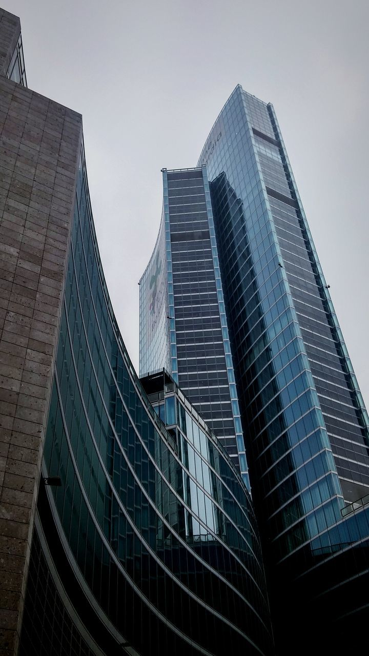 modern, architecture, skyscraper, building exterior, city, built structure, low angle view, outdoors, no people, tall, growth, cityscape, office park, sky, day