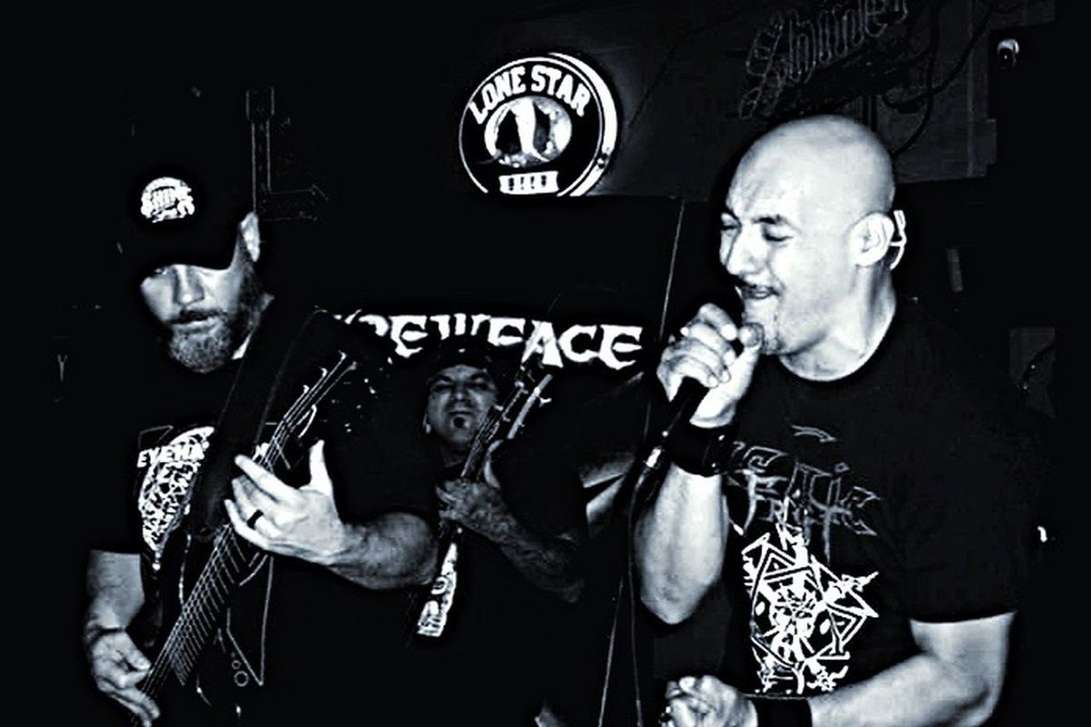 Skrewface Band Metal Music Blackandwhite