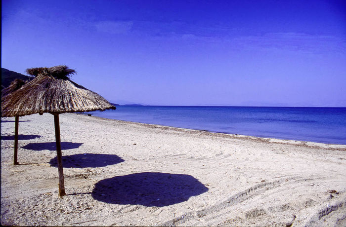 Beach Beach Photography Beachphotography Beauty In Nature Clear Sky Corfu, Greece Greece Horizon Over Water Ionianislands Landcape Moraitika No People Outdoors Parasols Sand Sea Summer Tranquil Scene Tranquility Travel Photography Water