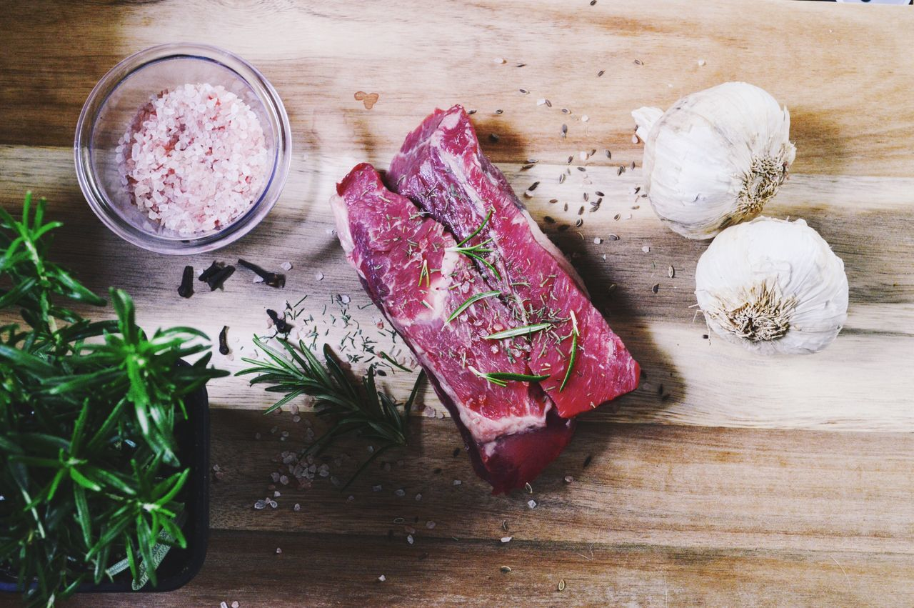 Steak on wooden background with fresh rosemary and Himalayan salt Food Raw Food Meat Gourmet Cutting Board Garlic Clove SLICE Freshness No People Wood - Material Healthy Eating Indoors  Steak Raw Steak Wooden Background Wooden Surface Himalayan Salt Rosemary Fresh Herbs  Herbs And Spices Steak And Spices Food Flat Lays Flatlay Flat Lay Raw Food Photography