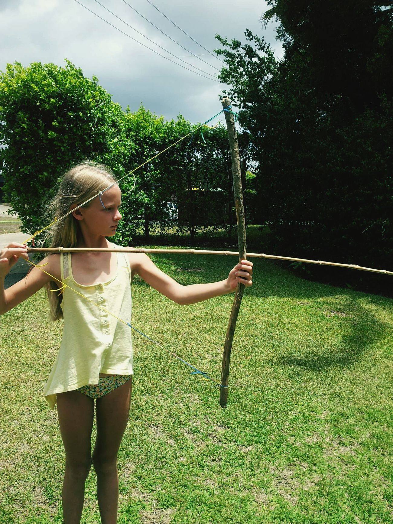 Handmade bow and arrow. To cute... Taking Photos Archery Handmadewithlove Enjoying Life Captured Moment Hanging Out Beautifulmoments Life Of A Teenager  Mydaughter EyeEm Gallery