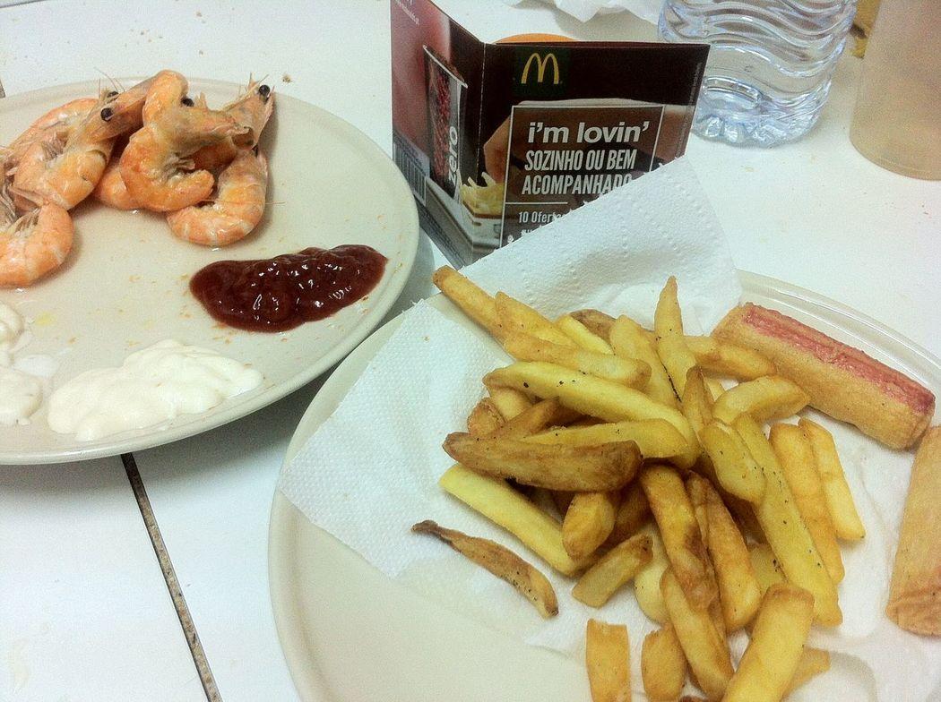 Mcdonalds Potatoes Frenchfries Shrimp Ketchup Mayonnaise Garlicsauce Crabsticks Dinner