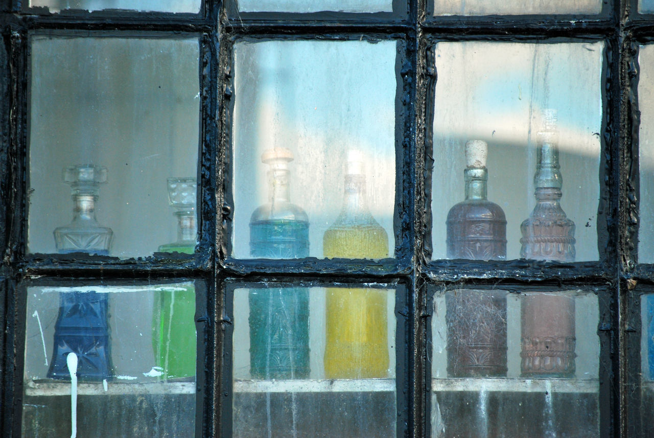 Glass In The Window Old Botte Old Bottle Old Bottles Still Life Window Window View Windows