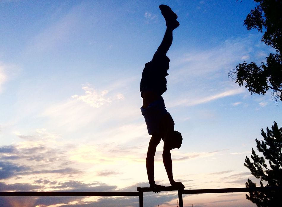 Beautiful stock photos of fitness, Cloud, Germany, Handstand, Jena