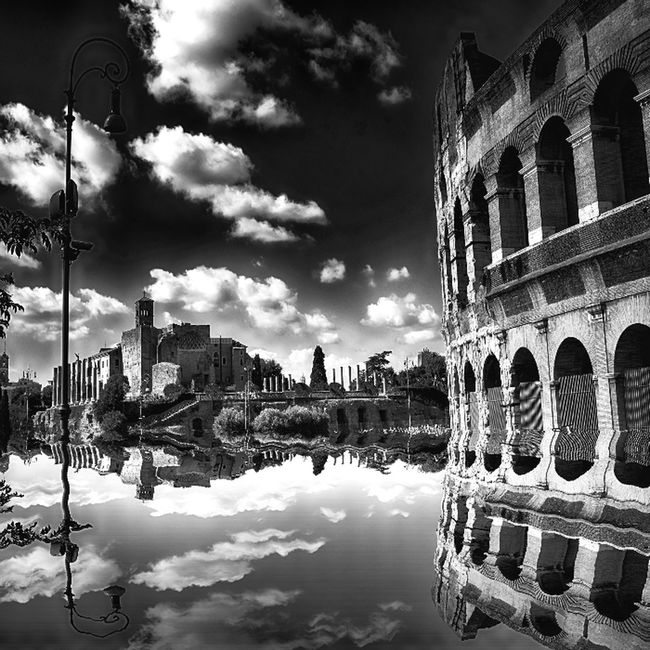 Rome Eye4photography  Bw #bnw #BWcollaboration #istanbul #blackwhite #blackandwhite Reflection