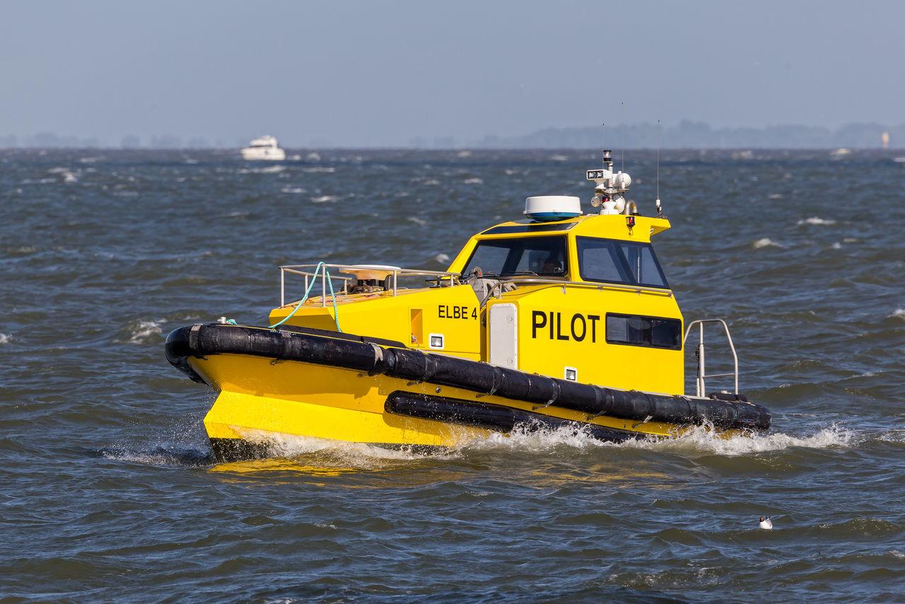 Elbe River Lotsenboot Boat Elbe Nautical Vessel Outdoors Pilot Boat Ship Transportation Water Waterfront Yellow