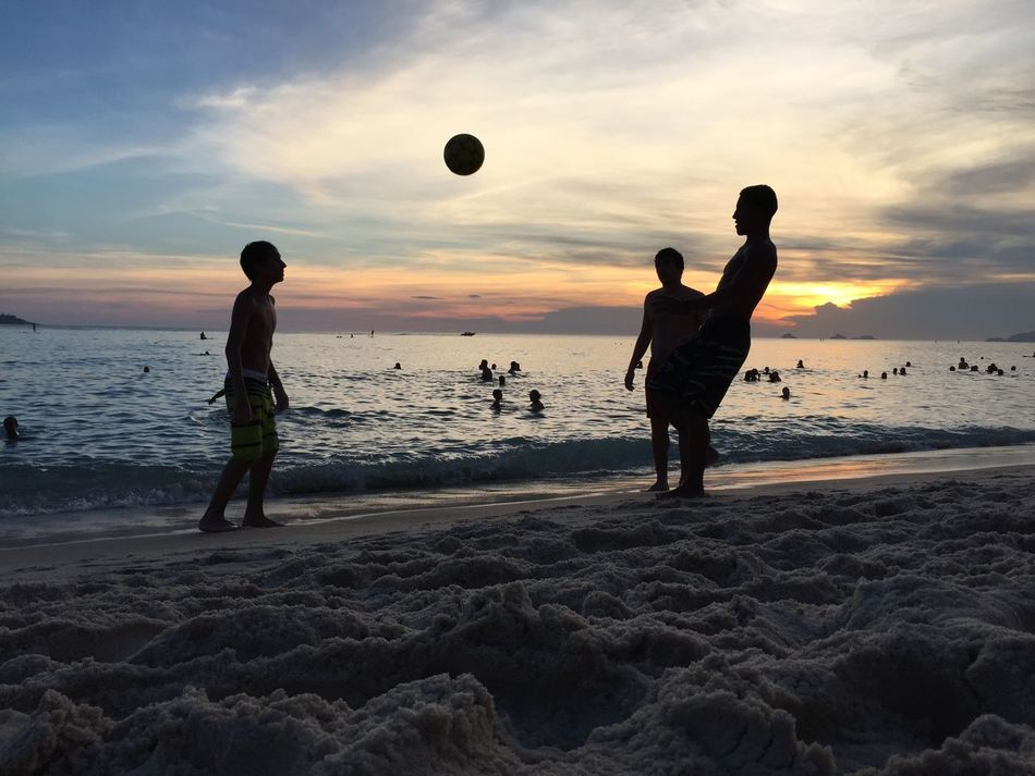 Beautiful stock photos of football, Beach, Childhood, Cloud - Sky, Enjoyment