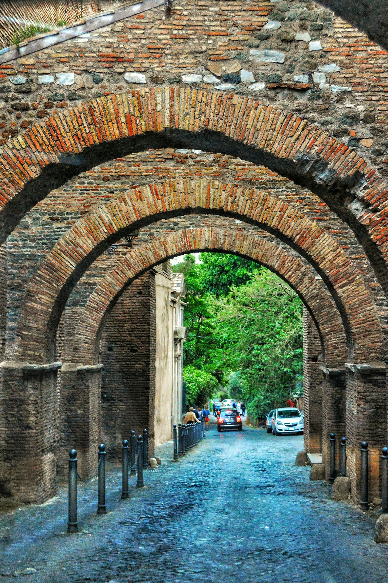 """""""Marcus Aemilius Scaurus' Summit Road"""" - Roma (Ancient street which linked Circo Massimo and the Colosseo) Rome Roma Photobydperry Arch Built Structure Day Transportation Architecture Romanarches Ancient Ruins Ancientstreet"""