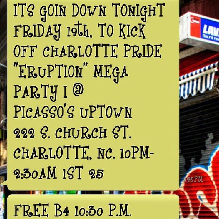Charlotte NC Pride Prideweekend PicassosSportsCafe Uptown 2013 Tonight