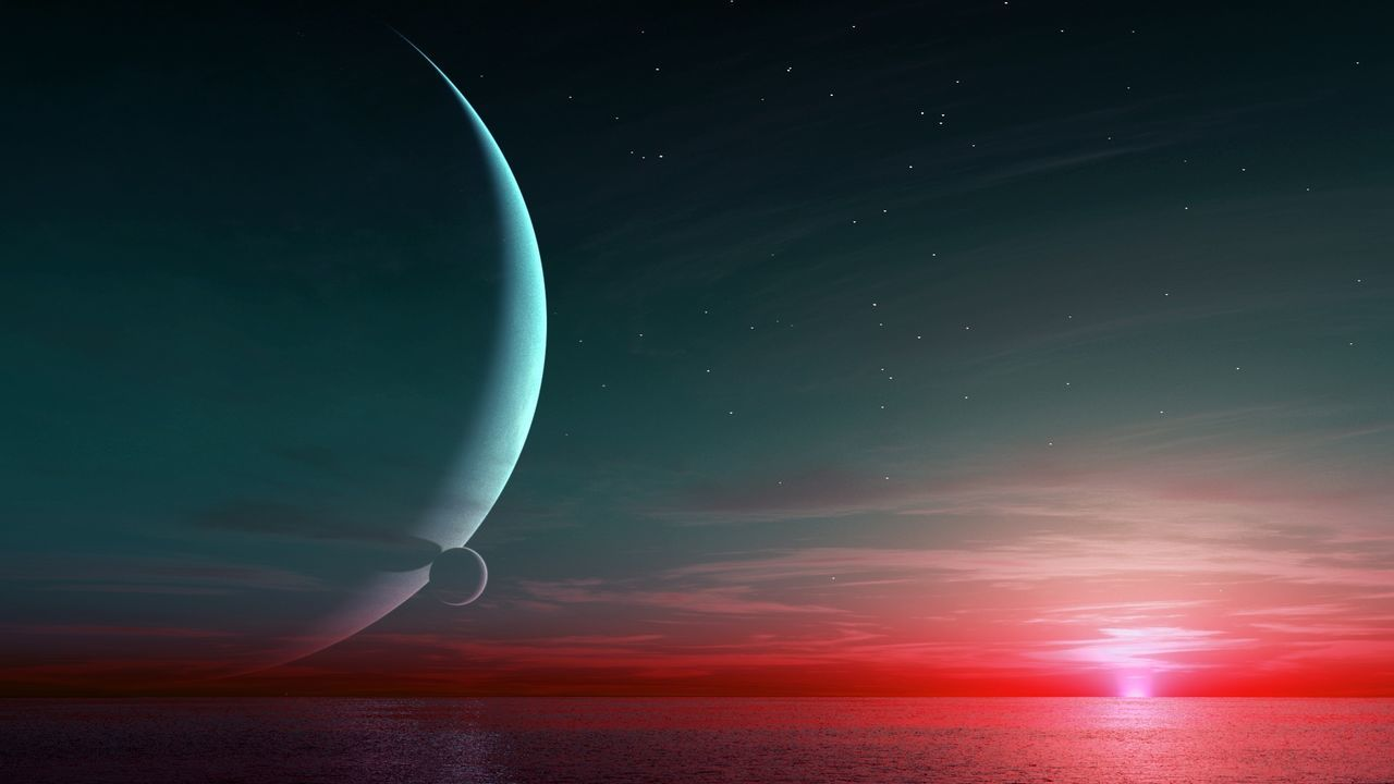 Evening. Alien Digital Art Digital Fiction @rt. Sunset Rendering 3d Rendering Landscape 3drender 3drenders ExoPlanet