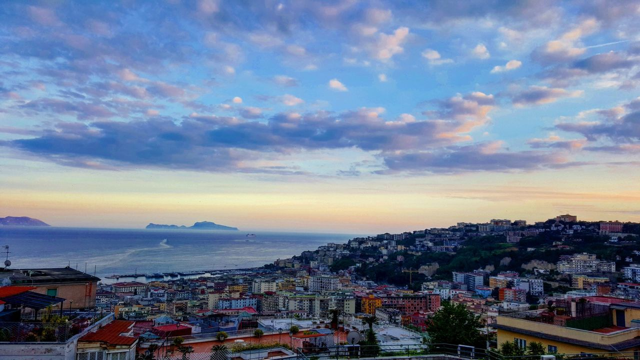 Napoli Falcone Panorama Amazing Sea Sun Paradise Sunset Nuvole Sky Clouds