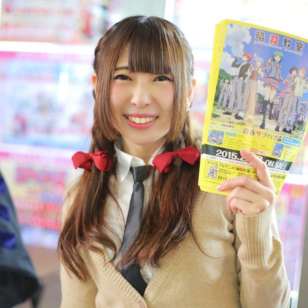 アニメイト池袋本店なう。 暗殺教室 蝦名彩香 えびちゃん http://t.co/95fGUnJdIf