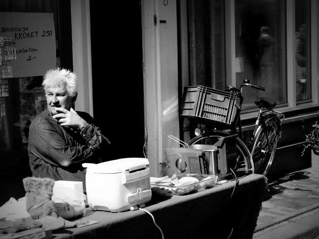 Amsterdam Black & White City Daily Life Jordaan Kingsday Kingsday 2016 Orange