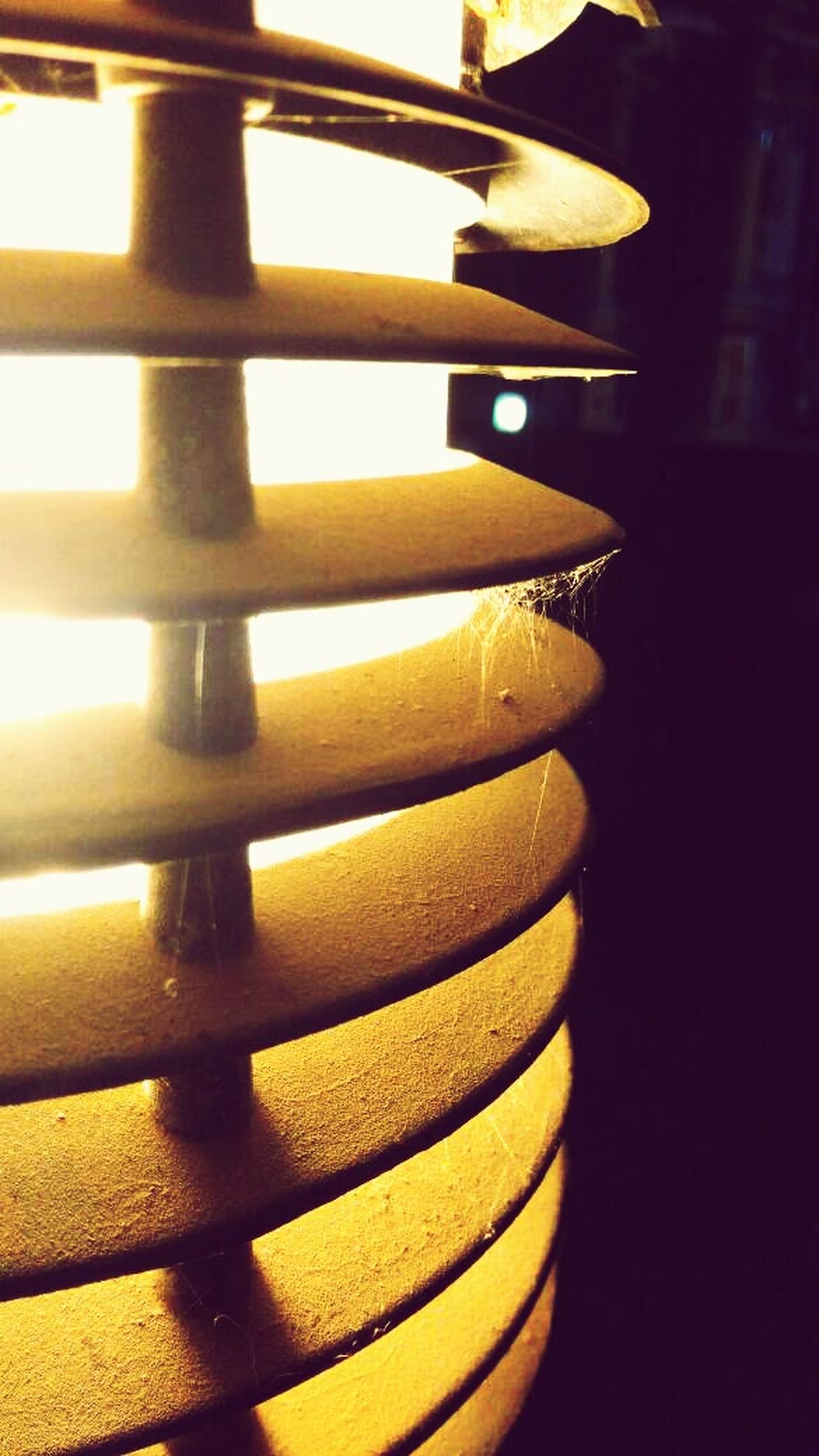 In A Row No People Yellow Close-up Night Indoors  Simple Photography Illuminated From My Point Of View EyeEm Gallery Best Of EyeEm Lamplight Dusty Web Spider Web Yellowlights Pattern, Texture, Shape And Form SimpleyetBeautiful EyeEmBestPics Beauty In Ordinary Things Bright Light Lamps And Lights. Art Is Everywhere Close Up Maximum Closeness