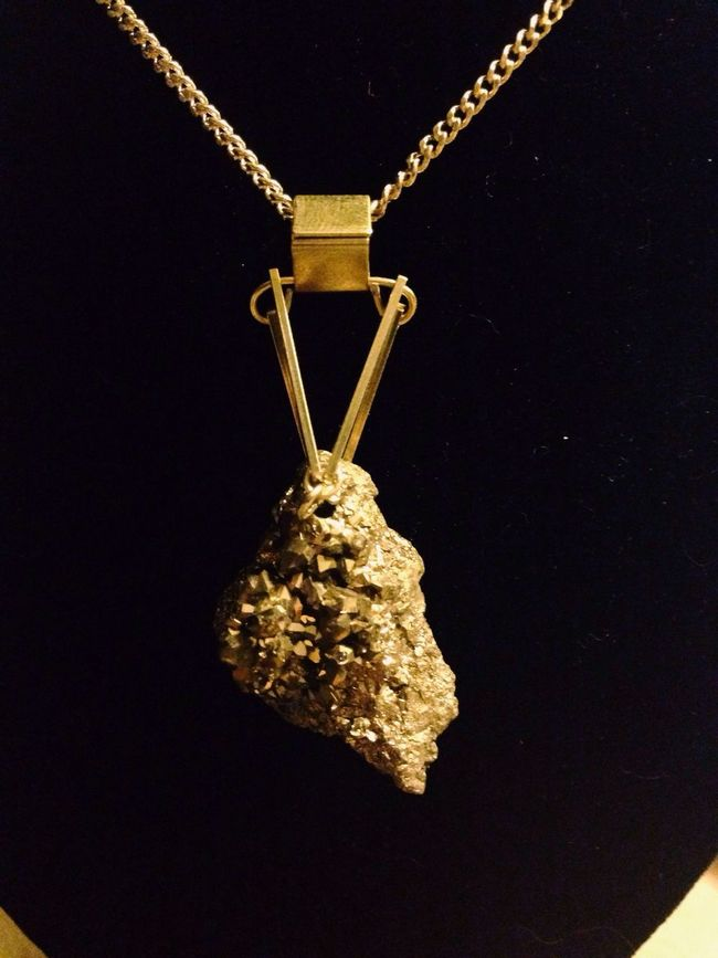 Pyrite edition Handmade Jewellery One Of A Kind  Necklace Qzlab