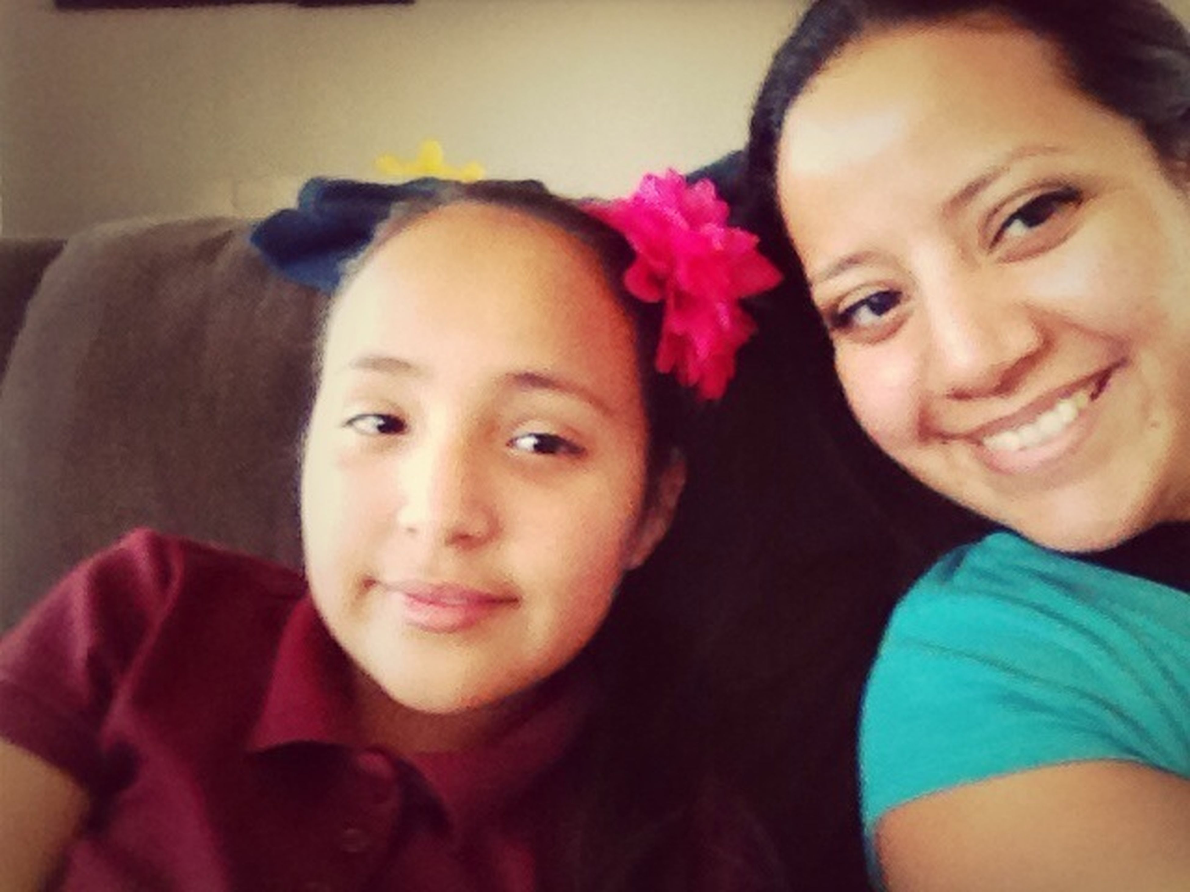 Hanging out with my niece Rachel.