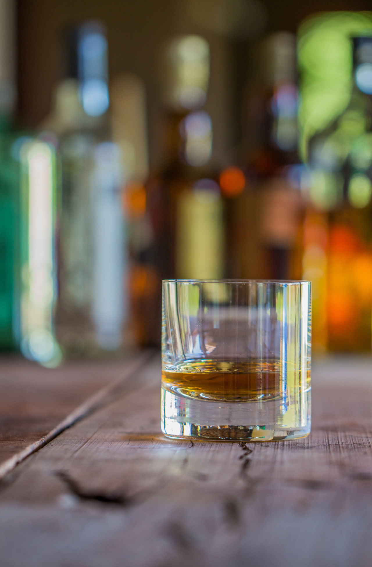 GLAMOR Status Barrel Wood Table Bar Bottles Whiskey Alcohol Close-up No People Drink Drinking Glass Golden