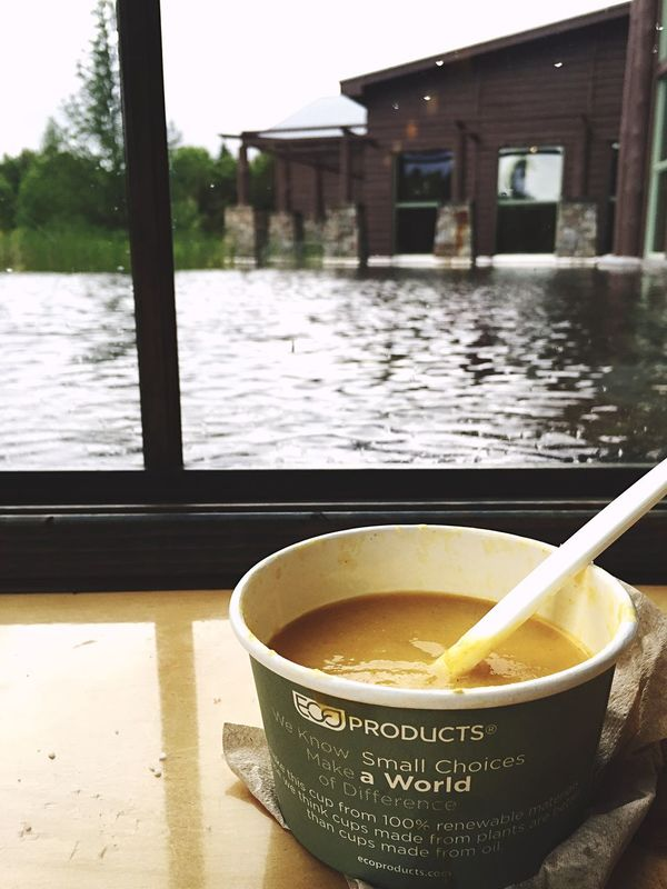Small World Ecofriendly Impact Make A Difference Infinity Cafe Lake View Adirondack Views Cloudy ButternutSquash Soup Perfection