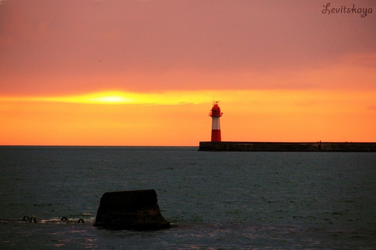 Sea Sunset Silhouettes Sky Sunset