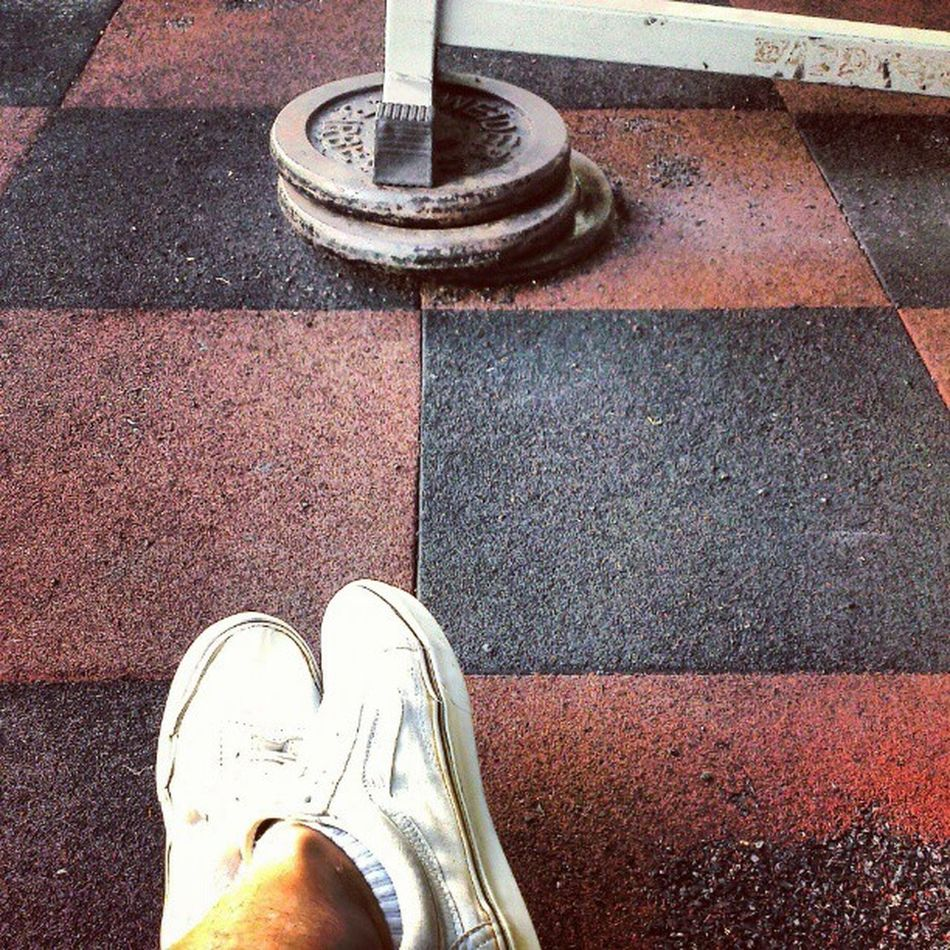 Improvised? Poormans Gym Wellness Heck AsweatAday iguess